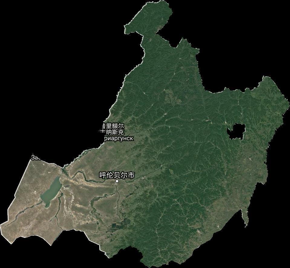 呼伦贝尔市高清卫星地图,呼伦贝尔市高清谷歌卫星地图