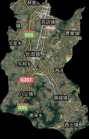 长治县高清卫星地图,长治县高清谷歌卫星地图