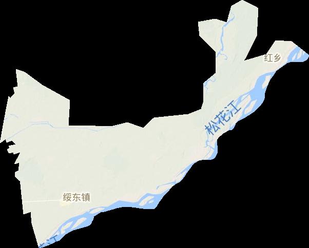 黑龙江省鹤岗市绥滨县绥东镇地形图高清版大图