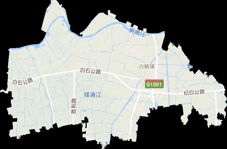 白鹤镇电子地图高清版大图