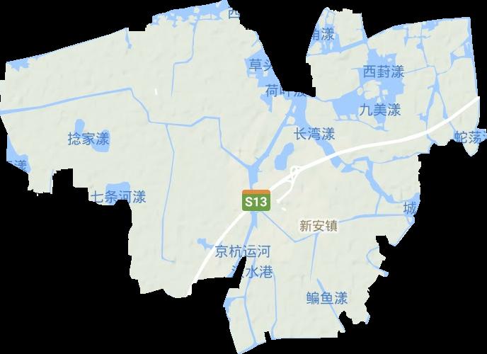 新安镇高清地形地图,新安镇高清谷歌地形地图