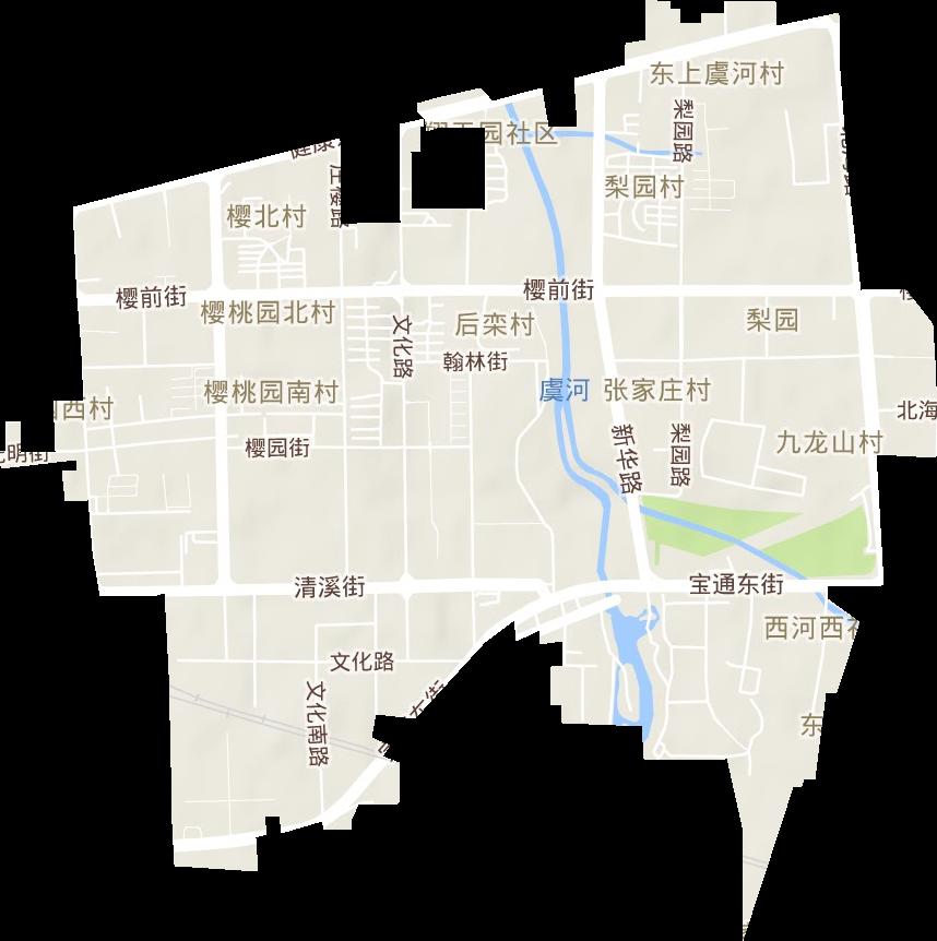 山东省潍坊市奎文区梨园街道地形图高清版大图