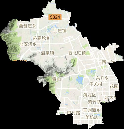 海淀区高清卫星地图,海淀区高清谷歌卫星地图