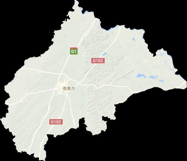 德惠市地形图高清版大图图片