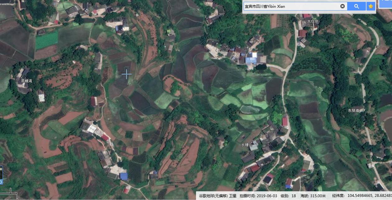 谷歌卫星地图高清2019村庄(四川)